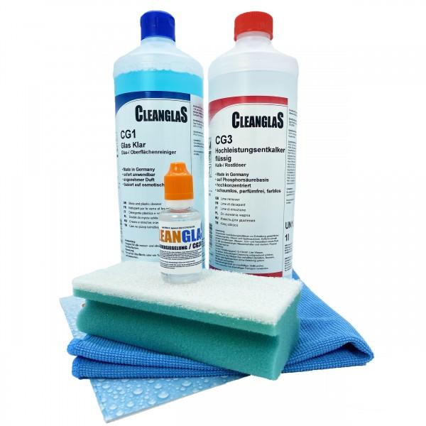 CleanglaS Nanoversiegelung Glasversiegelung Dusche Antikalk Entkalker Dusche stark