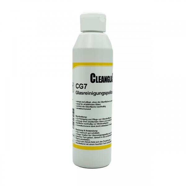 Glasreinigungspolitur CG7 - 250 ml Set mit Reinigungsschwamm und Tuch