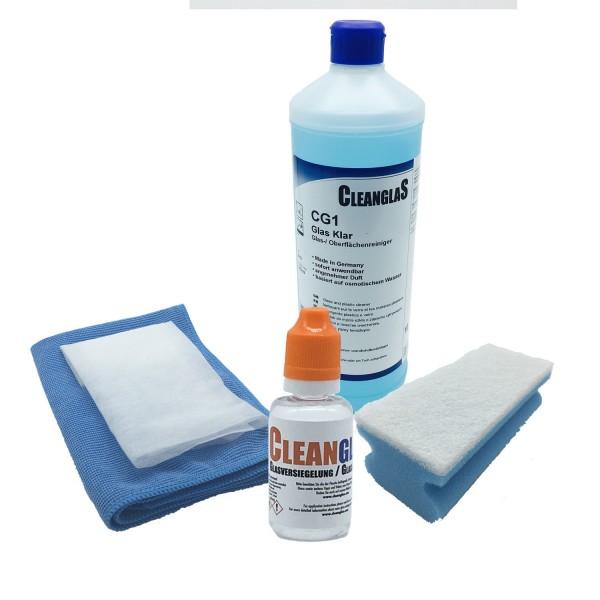 Nanoversiegelung Glasversiegelung CleanglaS Sparset GS 30ml Hochleistungskonzentrat mit Instanteffekt für Autoscheibe, Dusche
