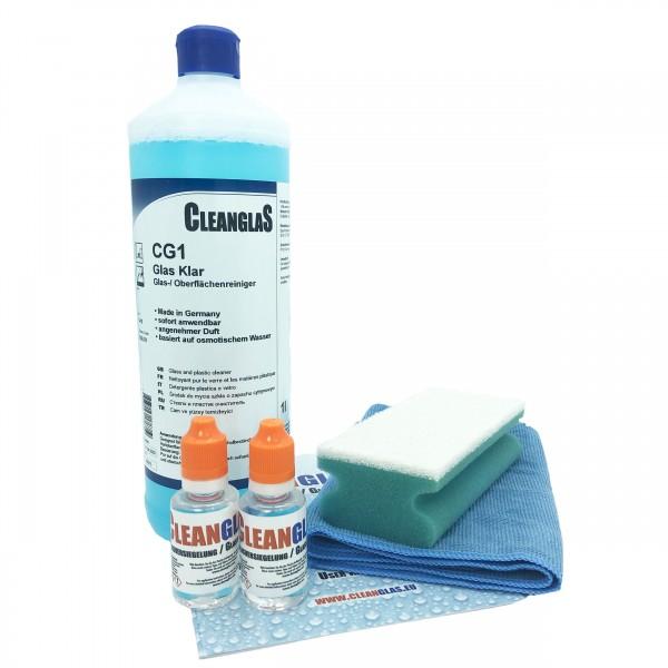 CleanglaS Glasversiegelung XL Glasset 60ml mit Anti Kalk Schutz und Lotuseffekt